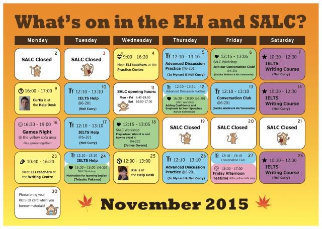 Nov schedule